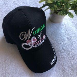 Accessories - Ladies Black Hat Cap Women of Faith